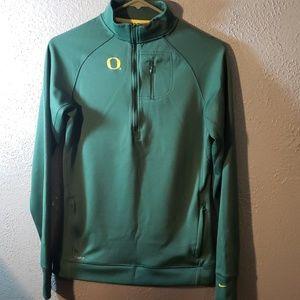 Nike 3/4 zip Oregon ducks dri fit top